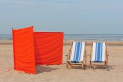 Spiaggia in Olanda Immagini Stock Libere da Diritti
