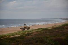 Spiaggia Olanda a L'aia fotografia stock libera da diritti