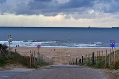 Spiaggia Olanda a L'aia immagine stock