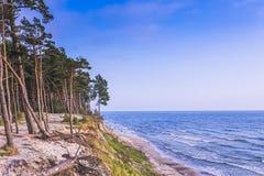 Spiaggia olandese vicino a Karkle, Klaipeda, Lituania di kepure di Olando del cappello fotografia stock