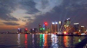 Spiaggia olimpica della plaza di Qingdao Immagini Stock Libere da Diritti