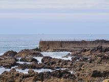 Spiaggia a Oporto Immagini Stock