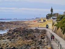 Spiaggia a Oporto Fotografia Stock Libera da Diritti