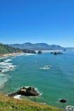 Spiaggia Oregon del cannone Fotografia Stock