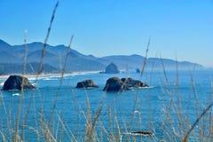 Spiaggia Oregon del cannone Fotografie Stock