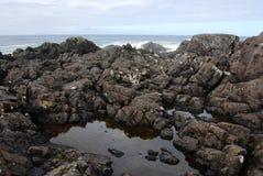 Spiaggia in paesi della costa del Pacifico fotografie stock
