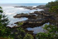 Spiaggia in paesi della costa del Pacifico Fotografia Stock
