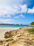 Spiaggia pallida di Hong Kong Sai Immagine Stock