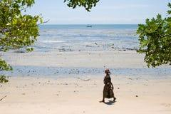 Spiaggia in Pangani, Tanzania. Fotografie Stock Libere da Diritti