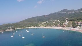 Spiaggia Parga di Valtos stock footage
