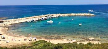 Spiaggia in Pegeia Fotografia Stock