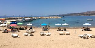 Spiaggia in Pegeia Immagine Stock Libera da Diritti