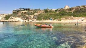 Spiaggia in Pegeia Immagini Stock Libere da Diritti