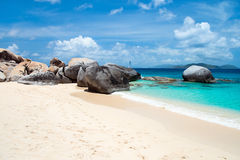 Spiaggia perfetta dell'immagine ai Caraibi Immagini Stock