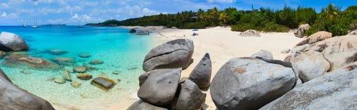 Spiaggia perfetta dell'immagine ai Caraibi Fotografia Stock Libera da Diritti