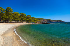 Spiaggia a Phaselis a Antalya, Turchia Fotografie Stock Libere da Diritti