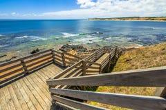 Spiaggia Phillip Island di Flynns Fotografia Stock