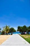 Spiaggia Phuket Tailandia di Karon nell'aprile 2010 Immagini Stock Libere da Diritti