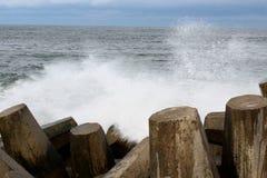 Spiaggia piacevole NJ del punto dell'Oceano Atlantico fotografia stock