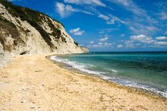 Spiaggia piena di sole Fotografia Stock Libera da Diritti