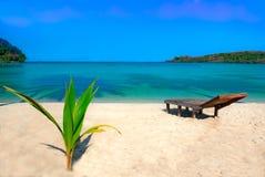 Spiaggia piena di sole Fotografie Stock