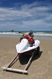 Spiaggia piena di sole Immagini Stock Libere da Diritti