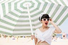 Spiaggia piena di sole Immagine Stock