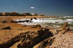 Spiaggia piena di sole Fotografia Stock