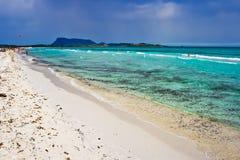 Spiaggia piena di sole immagine stock libera da diritti