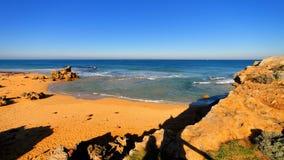 Spiaggia piena di sole in Australia fotografia stock libera da diritti