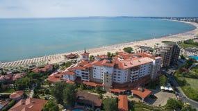 Spiaggia piena di sole, Bulgaria immagine stock libera da diritti