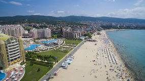Spiaggia piena di sole, Bulgaria fotografie stock