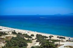 Spiaggia piena di sole, isola di Kos Immagini Stock