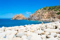 Spiaggia pietrosa Immagini Stock Libere da Diritti