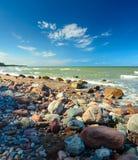 Spiaggia pietrosa Fotografia Stock