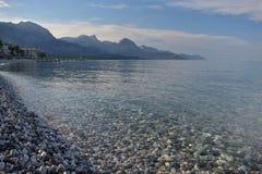 Spiaggia pietrosa E fotografia stock libera da diritti