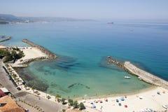 Spiaggia in Pizzo Calabro, Calabria, Italia Fotografie Stock Libere da Diritti