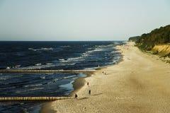 Spiaggia in Polonia Immagine Stock