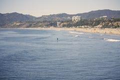 Spiaggia popolare di Santa Monica Fotografia Stock