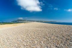 Spiaggia Portland Dorset di Chesil fotografia stock