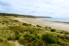 Spiaggia in porto Eynon - Galles, Regno Unito fotografie stock libere da diritti