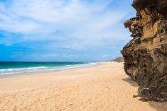 Spiaggia Praia de Verandinha di Verandinha in Boavista Capo Verde Fotografia Stock