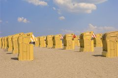 Spiaggia-presidenze Fotografie Stock Libere da Diritti
