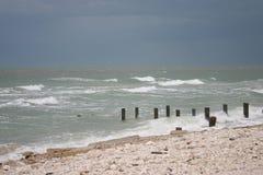 Spiaggia prima dell'uragano fotografia stock libera da diritti