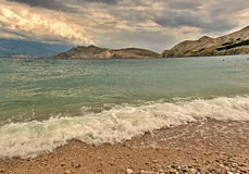Spiaggia prima della tempesta Immagine Stock Libera da Diritti