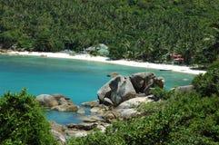 Spiaggia privata Immagini Stock