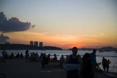 13 11 2014 - Spiaggia pubblica e la stazione turistica di Pattaya, Thaila Immagini Stock