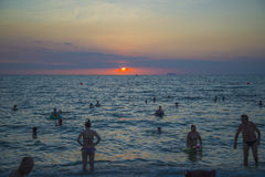13 11 2014 - Spiaggia pubblica e la stazione turistica di Pattaya, Thaila Fotografia Stock