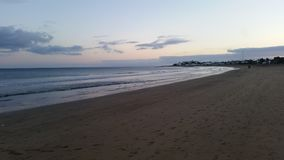 Spiaggia a Puerto Del Carmen, Lanzarote Fotografia Stock