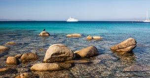 Spiaggia Rena Di Ponente - Sardinia Italien Royaltyfri Foto